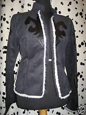 Nos ATTEMPT Tribal Fake Suede Vegan Leather Blazer Jacket Coat Psychobilly Mod M
