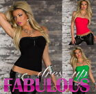 NEW SEXY WOMEN'S TOP SIZE 6 8 10 PARTY CASUAL CLUBBING SHIRT TOPS CLOTHES XS S M