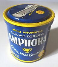 "Vintage AMPHORA Extra Mild Cavendish ""Blue"" Pipe Tobacco Tin 6 OZ Douwe Egberts"