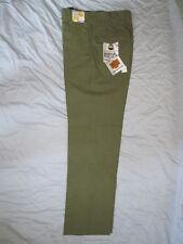 Mens 70's Authentic H Bar C Ranchwear Tab Pockets cowboy Pants Plaid Green 28/30