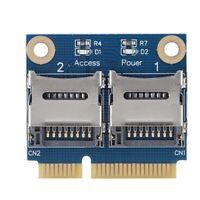 Adapter Card Converter Extender Card Mini PCI-e To Dual Micro Secure Digital