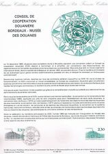 Document Officiel   1983 31   Convention Cooperation Douaniere Bordeaux  Yv N° 2