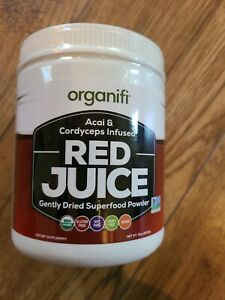 Organifi 10oz Red Juice Acai and Cordyceps Infused Gently Dried Superfood powder