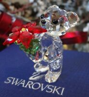 2012 *NIB* SWAROVSKI ANNUAL KRIS THE CHRISTMAS BEAR WITH POINSETTIA #1139967