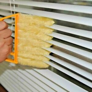 Orange Venetian Blind Cleaner With Handle Washable Micro fibre Duster