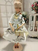 OOAK HANDMADE DOLL CLOTHES FASHIONISTA HONEY BEAR DESIGN OUTFIT DRESS SET #2