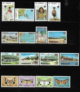 Kiribati 1979-1980, 4 complete MNH sets
