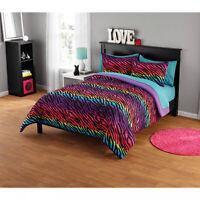 *NEW* Multi-color UNIQUE Stripes QUEEN SIZE THICK - SOFT QUALITY Comforter Set
