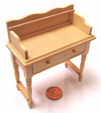 1:12 Natural Finish Wooden Wash Stand Dolls House Miniature Bedroom Accessory