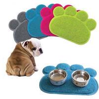 EG_ Paw Shape Dog Cat Placemat Pet Dish Bowl Feeding Food Mat Wipe Clean Bluelan
