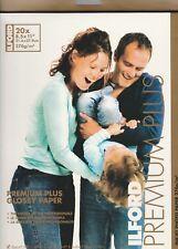Premium Plus Glossy Inkjet Photo Paper Ilford 8.5x11x20 Sheets Epson Canon HP