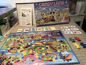 2001 Disney Theme Park Candy Land Game by Milton Bradley Brand Preowned complete