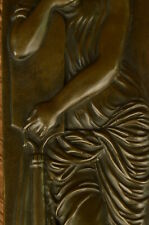 French Roman Greek Mythological Bronze Statue Bas Relief Sculpture Nouveau Deco