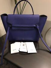 CELINE Grained Calfskin Mini Belt Bag Indigo