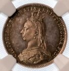 Great Britain Victoria Proof 3 Pence 1887 NGC PR65 Beautiful Detailed Coin !