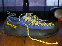 B21 Vintage La Sportiva Climbing Shoes Blue Made In Italy Womens Size 6.5