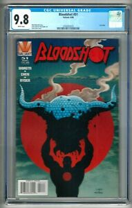 """Bloodshot #51 (1996) CGC 9.8  White Pages  Moretti - Chen - Ryder  """"Last"""" Issue"""