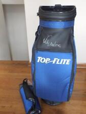 TOP FLIGHT STAFF GOLF BAG BLACK/BLUE/WHITE AUTOGRAPHED BY LEE TREVINO