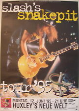 SLASH'S SNAKEPIT CONCERT TOUR POSTER 95 GUNS N ROSES IT'S FIVE O'CLOCK SOMEWHERE