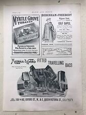 Mappin & Webb's Fitted Travelling Bags Etc.: 1894 Black & White Magazine Advert