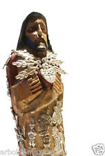 Sacred Heart w/Milagros/Sagrado Corazón/Mexican Folk Art Wood Sculpture Small
