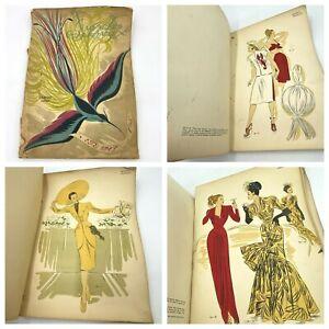 1947 Modeles Originaux French Fashion Plates Book Of 79 Magazine Semini Ed LB