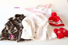 Lot of Winter Items For 12 months baby girl jackets and other warm items