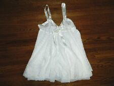 Women's White Nightgown Negligee Size Large