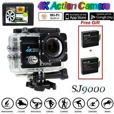 "SJ9000 4K HD WiFi Sports Action Camera 2.0"" LCD 16MP Camcorder+Extra 2 F1"
