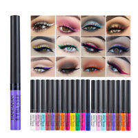 12 Colors Metallic Shiny Smoky Eyes Eyeshadow Waterproof Glitter Liquid Eyeliner