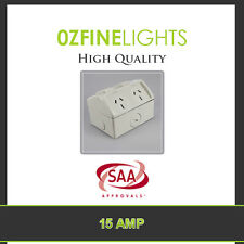 15 AMP IP53 Double Weatherproof Power Point  Socket SAA APPROVE