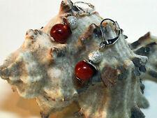 Koralle (synth.) Statement UNIKAT Ohrringe Ohrhänger Coral Balls