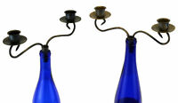 2 Candle Candelabra Class Patina Stylish Bottle Stopper Topper Pack of 2 NEW