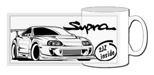 Toyota supra mk4 mug, jdm, classic car, 2jz, a60, a70, a80, j29, turbo