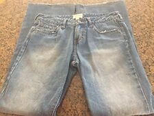 Abercrombie & Fitch Denim Jeans Size 4R Flare Leg 100% Cotton Distressed