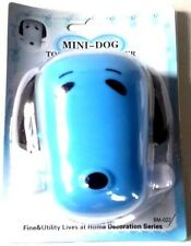 1 pcs NEW BLUE MINI DOG TOOTHBRUSH TOOTHPASTE HOLDER BATHROOM WALL HOLDER