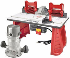 Craftsman 9.5 Amp Router Table Combo 1-3/4 HP Power Shaper Miter Gauge Woodwork