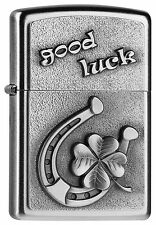 Zippo Briquet Good Luck-Horseshoe M. emblème catalogue 2015 fer à cheval Neuf emballage d'origine