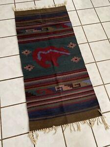 Lodge Cabin Southwestern Bear Wool Area Rug Read Description Please