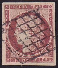 Timbre FRANCE Cérès N° 6B Oblit. Signé BRUN & CALVES - Voir DESCRIPTIF & Verso