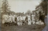 "Glass Plate Negative Minnesota late 1800s 5"" x 7"" large family Group Outside"