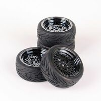 4PCS On Road Racing Car Tires and Wheel Rims 10362 For HSP HPI RC 1:10 Model car
