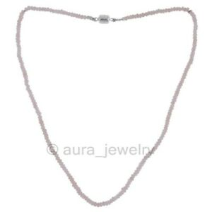 Rose Quartz Beads and Solid 925 Sterling Silver Beads Designer Necklace For Her