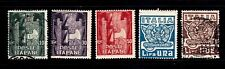 Italy stamps #159 - 163, mint & used, 163 is a perfin, SCV $59.25