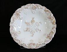 """Antique Meissen Rococo Gold Gilt Porcelain Centerpiece Charger Bowl 11"""""""
