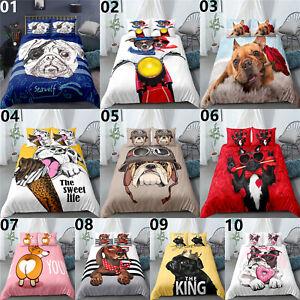 Cute Dog Single Double King Super King Size Bed Duvet Quilt Cover Set Pillowcase