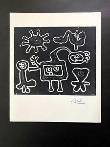 JOAN MIRO + 1958 BEAUTIFUL SIGNED PRINT + BUY IT NOW