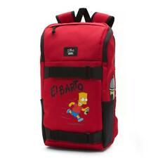 The Simpsons VANS El Barto Backpack Red Bart Simpson Obstacle Skatepack Bookbag