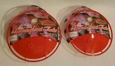 8 Oz Hummingbird Feeder Saucer Built-in Perch & Easy Clean 2pc Design - Set of 2