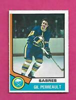 1974-75 OPC # 25 SABRES GIL PERREAULT EX-MT CARD (INV# C7350)